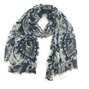 NEW Echo Black/Gray Women's Oversized Wrap 43x77